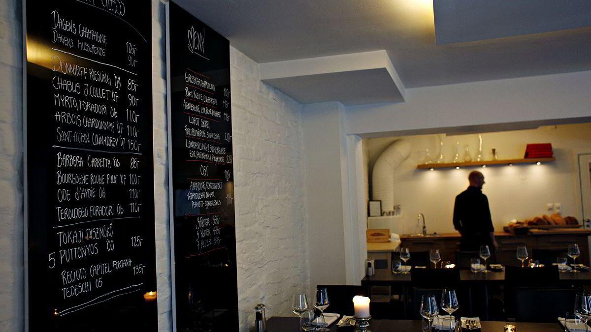 Cru innfrir med imponerende vin- og matmeny. Restauranten på Fagerborg i Oslo passer både for forretningsmiddager og de helt uformelle anledningene.
