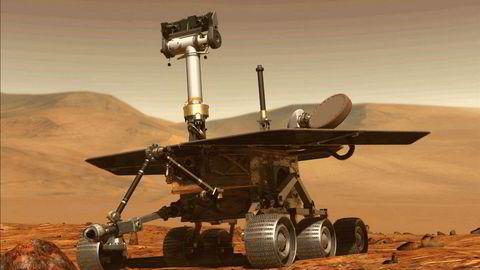 Den amerikanske romfartsorganisasjonen Nasa har klart å sende dette fartøyet Opportunity for å utforske planeten Mars. Personreiser til planeten ligger fortsatt et stykke frem i tid.