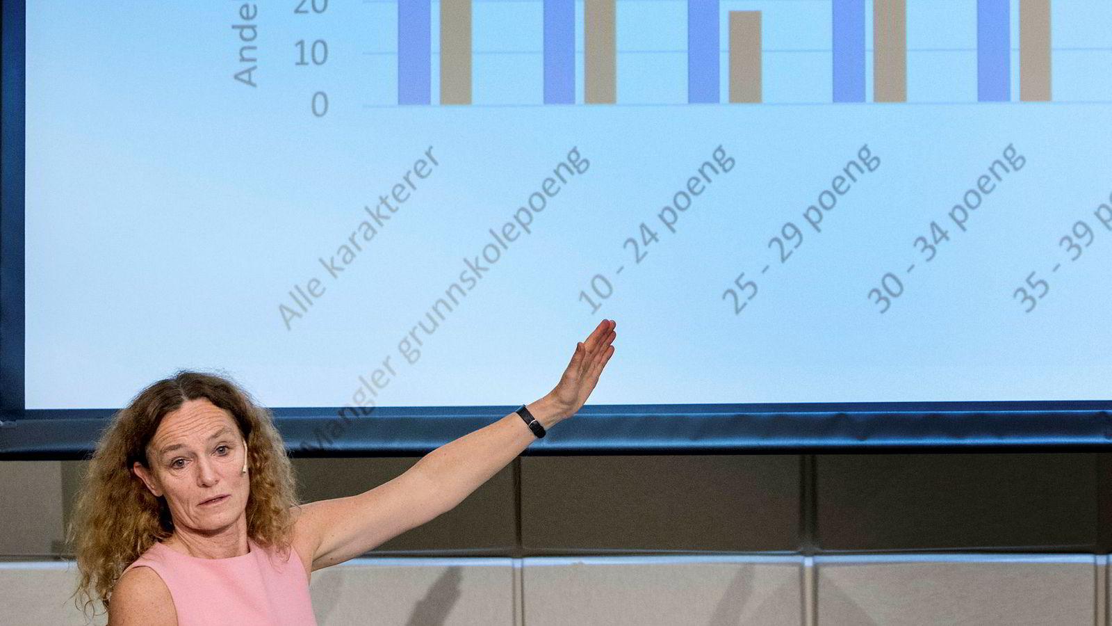 Direktør Camilla Stoltenberg ved Folkehelseinstituttet er bekymret for gutteproblemet i norsk skole.