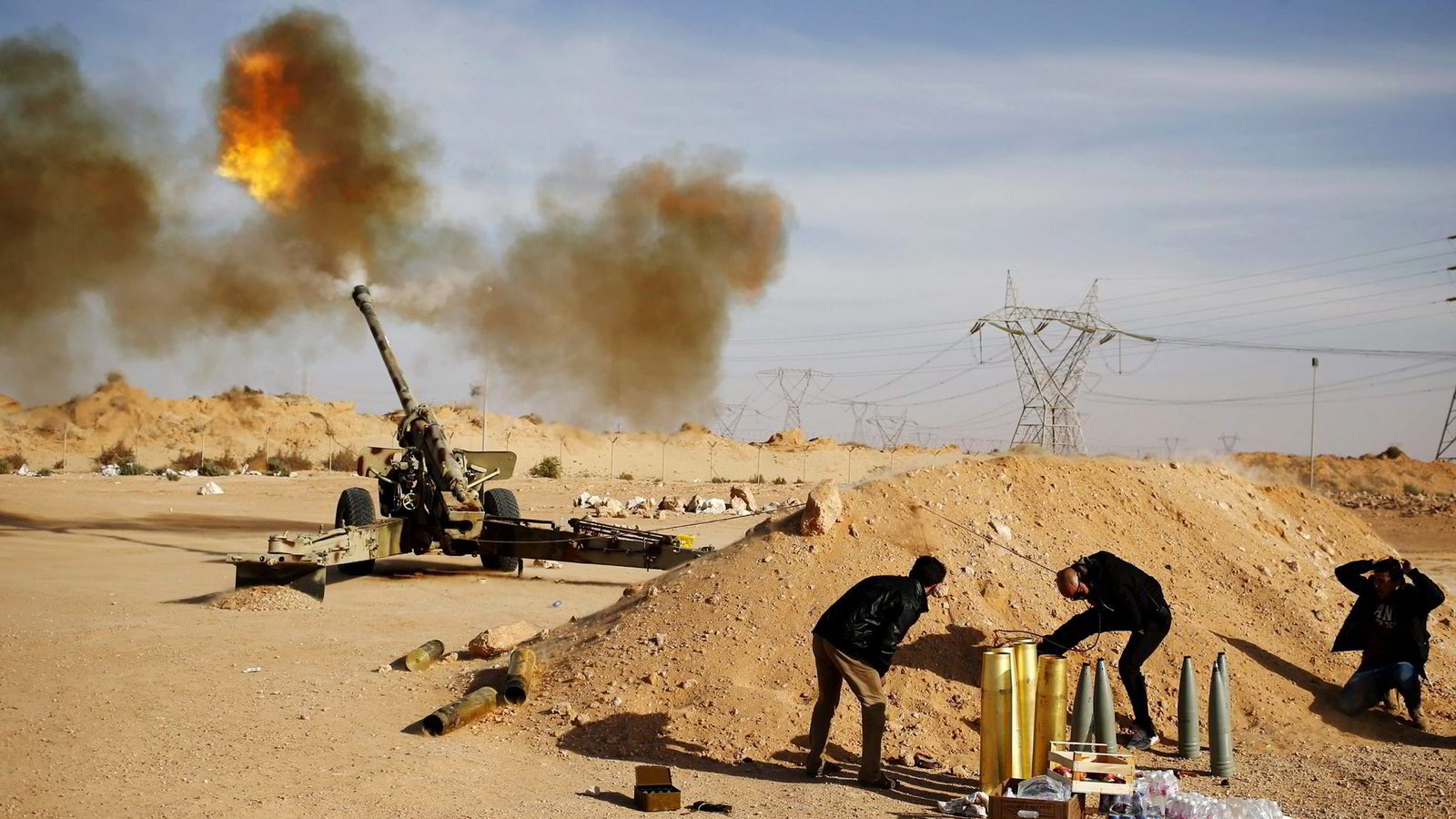 Libyske styrker har lenge kjempet for å beholde kontrollen over Sirte. Byen ligger strategisk til ved seks av Libyas eksportterminaler for olje og gass. Foto: Goran Tomasevic/Reuters/NTB Scanpix