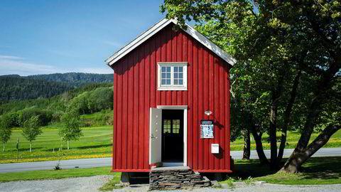 Fra 1850. Stabburet er ikke særlig stort, men her har Langøra kaffebrenneri holdt til i halvannet år. Foto: Kristian Helgesen/Langøra kaffebrenneri