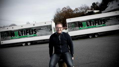 Petter Aksel Birkeland vil helst ikke at gasellevinneren Multiflis i Arendal skal bli så mye større.