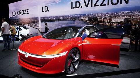 Volkswagen I.D. Vizzion er en sedan à la Tesla Model S.