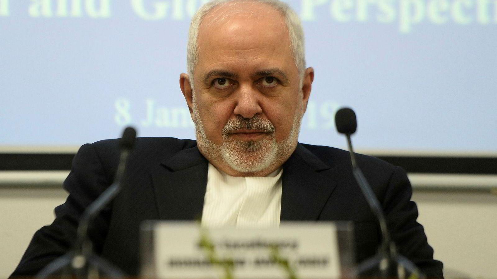Et iransk direktorat blir heretter satt på EUs terrorliste. Her er Irans utenriksminister Javad Zarif.