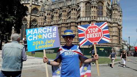 Brexitmotstandere holder stand også i sommervarmen.