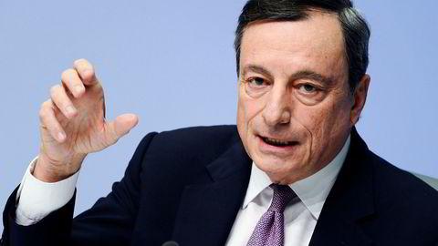 Mario Draghi, sentralbanksjef for den europeiske sentralbanken, holdt renten uendret på torsdag.