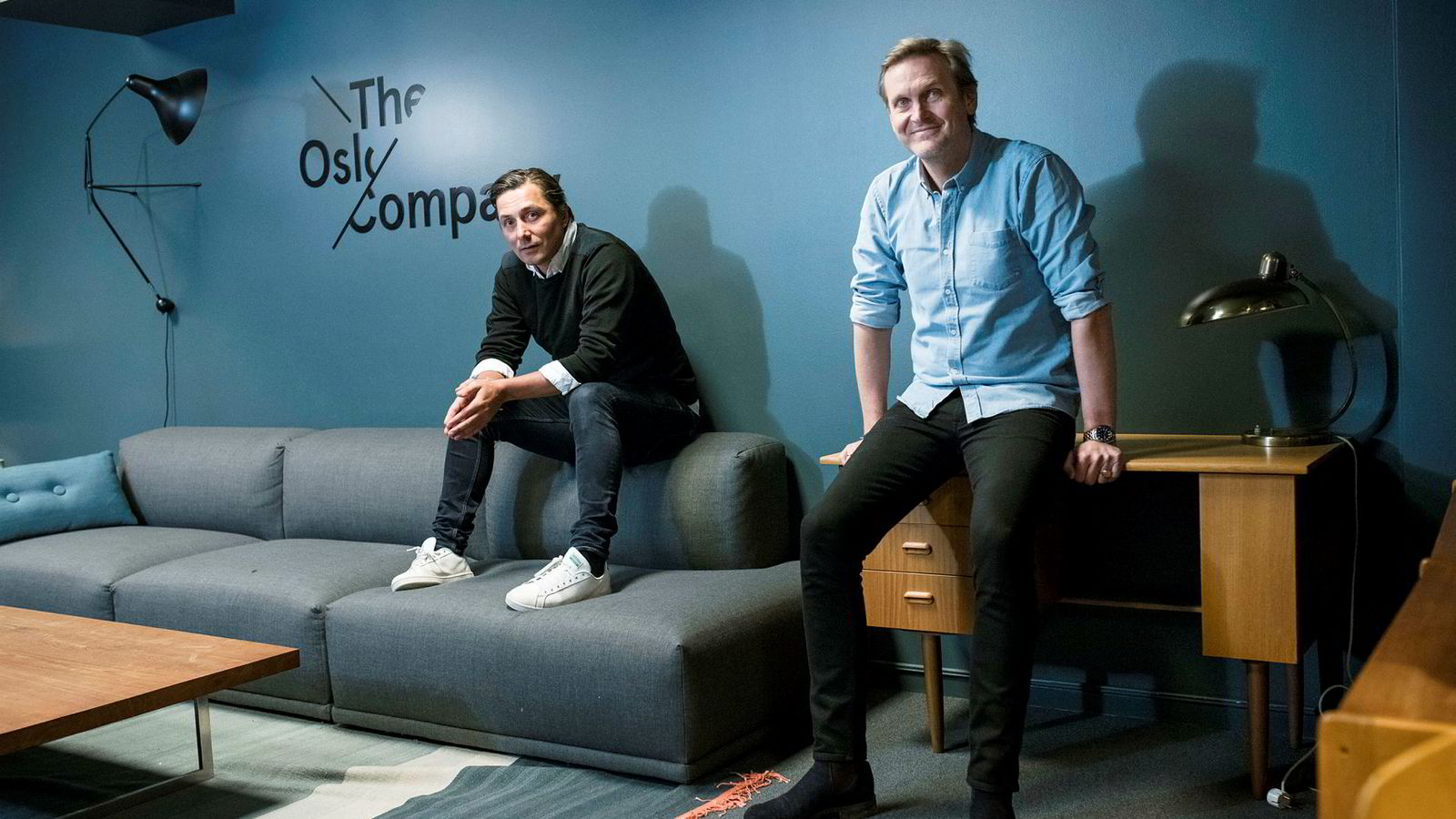 Christian Steen og Trond Kvernstrøm i The Oslo Company er fornøyd med selskapets utvikling.