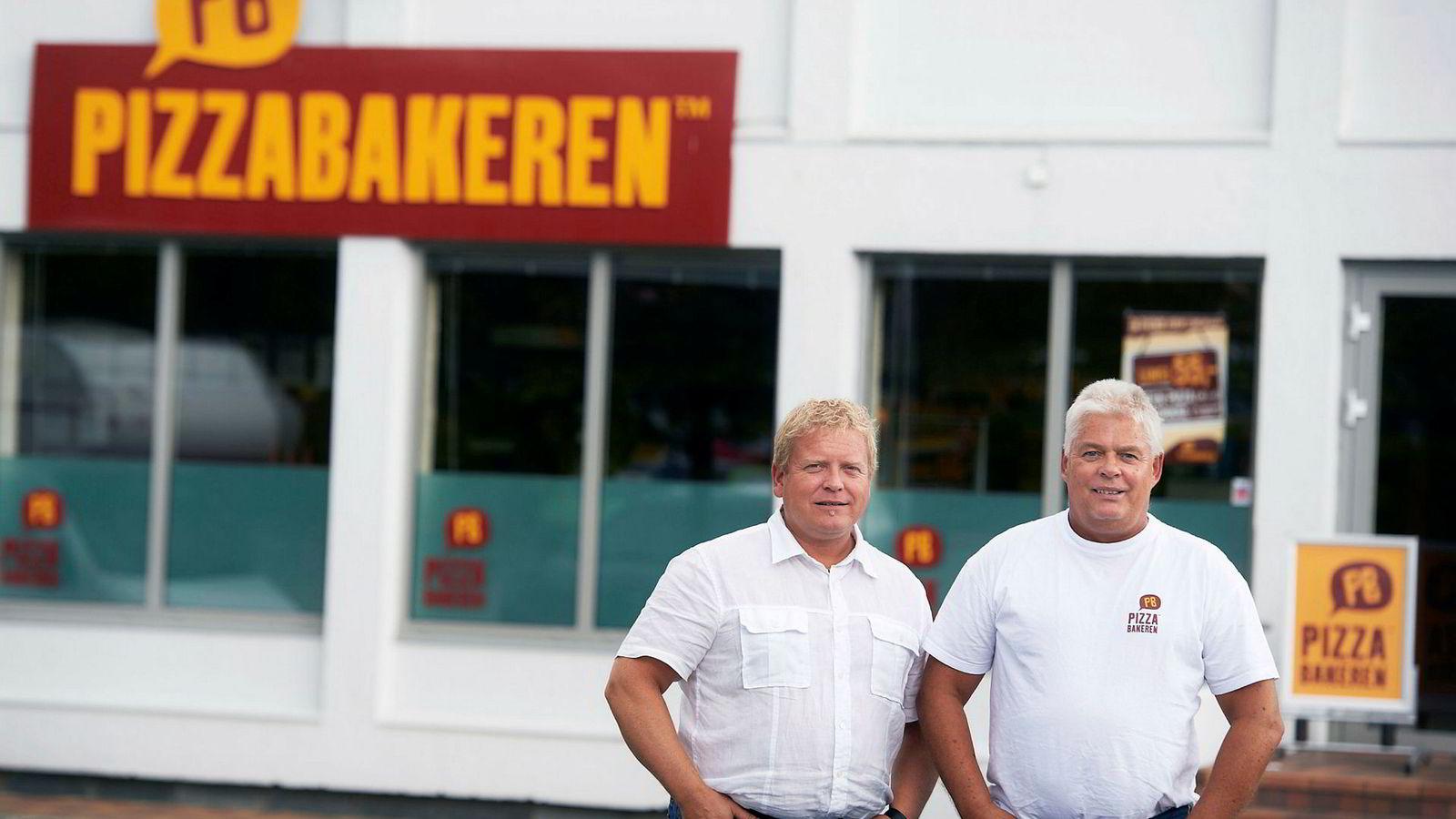 Daglig leder i Pizzabakeren, Jan Henrik Jelsa (til venstre) og gründer William Gulliksen.