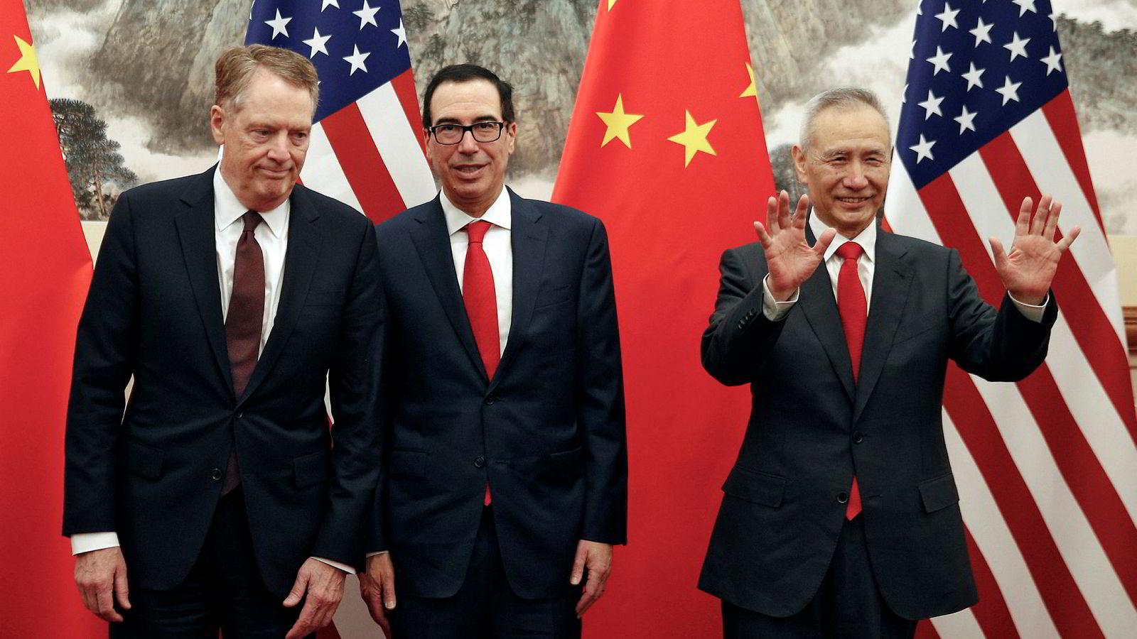 En amerikansk handelsdelegasjon ledet av finansminister Steven Mnuchin og Robert Lighthizer karakteriserte forhandlingene med Kina i forrige uke som produktive. President Donald Trump er ikke fornøyd med fremdriften.