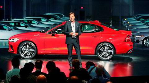 Håkan Samuelsson i Volvo konstaterer at overskuddet spises opp av blant annet tollavgifter og lanseringskostnader.