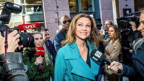 Durek Verrett og prinsesse Märtha Louise på vei inn til God Morgen Norge TV 2 på Aker Brygge rett etter at forholdet ble kjent.
