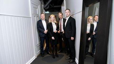 Fondet Explore Equity Partners er klar for å gjøre investeringer etter en pengejakt det siste året. Fra høyre: Henrik Lisæth, Simen Vier Simensen, Caroline B. Kjeksli og Argentum-sjef Joachim Høegh-Krohn.