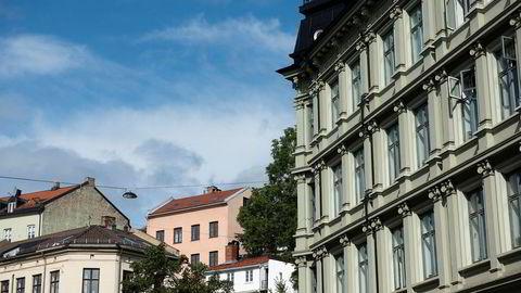 Bygårder i Oslo, arkivfoto.