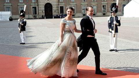 Kronprinsesse Victoria og Prins Daniel brukte et privatfly som viser seg å være registrert på skatteparadiset Bermuda. Foto: Jon Olav Nesvold/NTB Scanpix