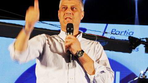 Statsminister Hashim Thaci håper å kunne lede regjeringen for en ny treårsperiode. Foto: Reuters / NTB scanpix
