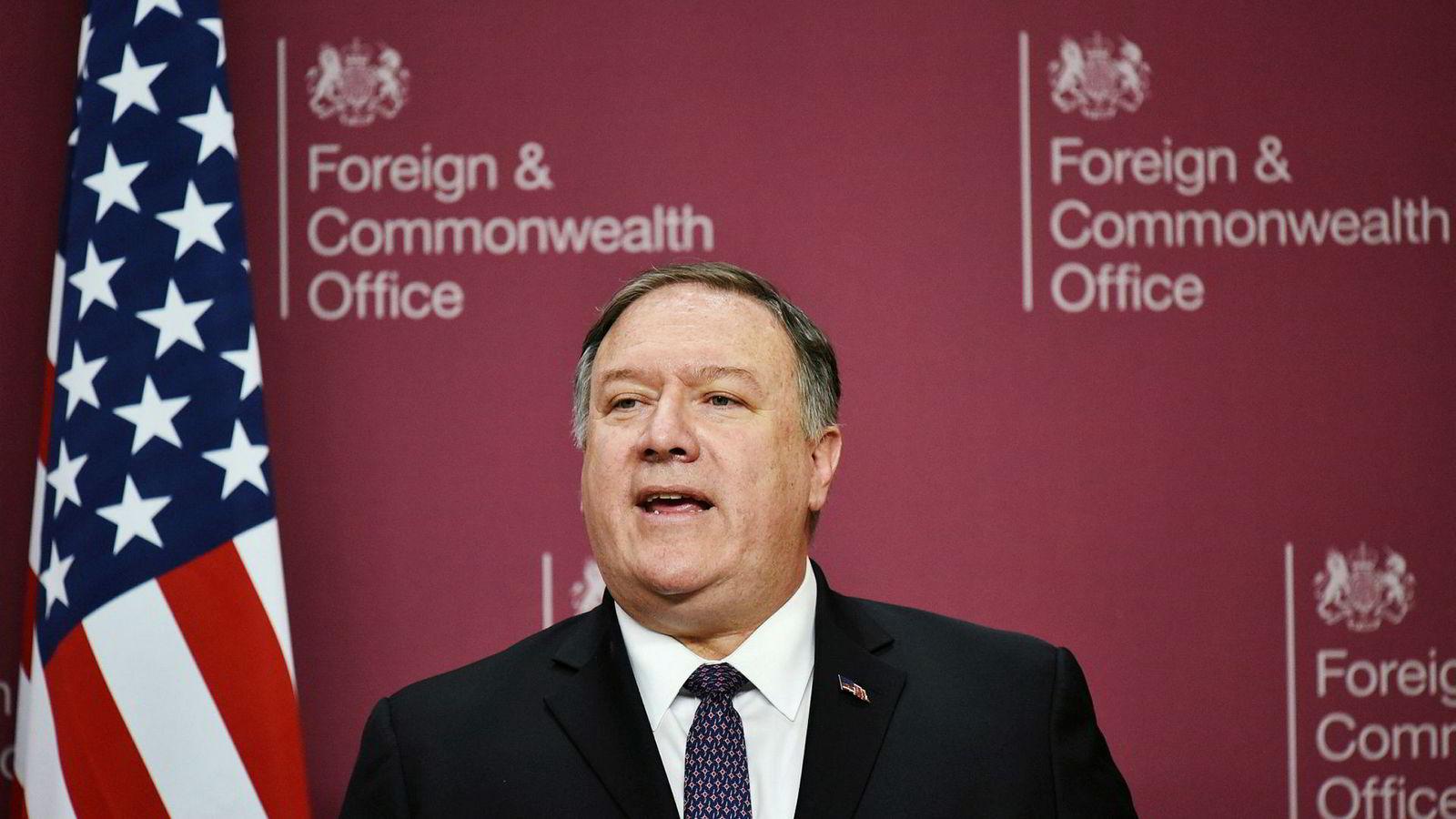 USAs utenriksminister Mike Pompeo.