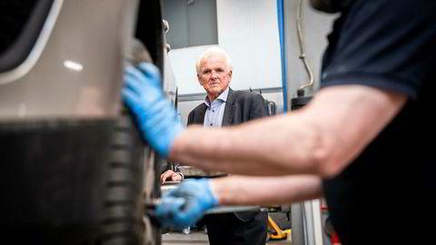 Volvo-sjef Øystein Herland hos Bilia på Fornebu.