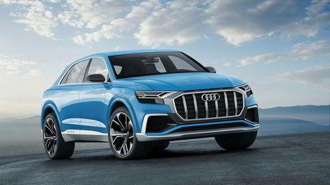 Her er Audi Q8 i fargen Bombay blue.