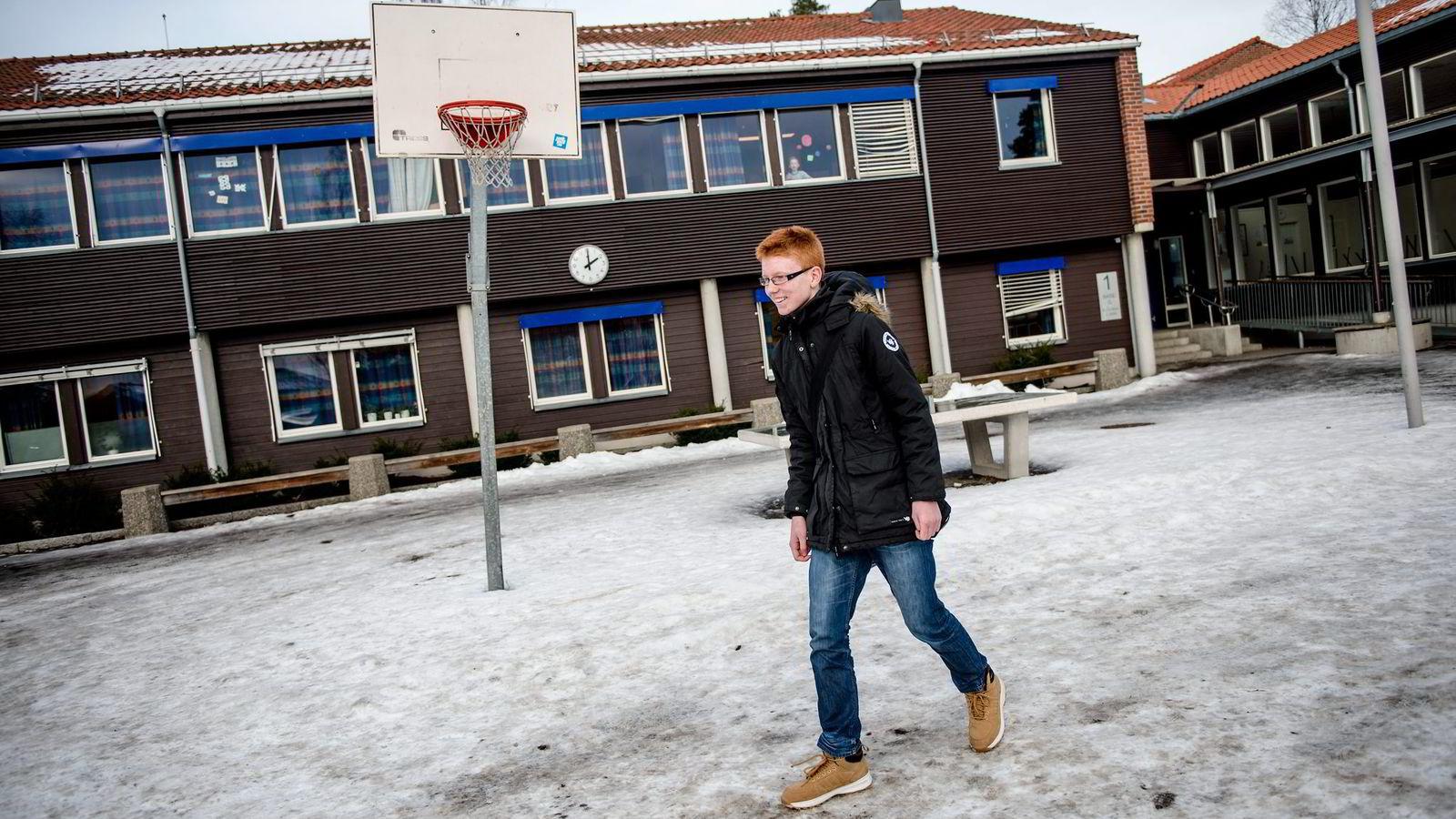 Christian Hellum By (15) trigges av et høyere tempo og har planer om å søke toårig studiespesialiserende ved Hersleb videregående.