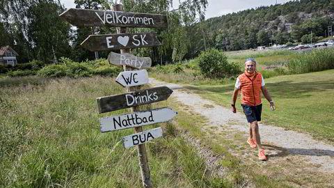 I sommer tar Per G. Braathen fri i fire uken ved hytta i Engelsviken ytterst i Oslofjorden. Han møter DN på Hankø og tror overskuddet vender tilbake i år.