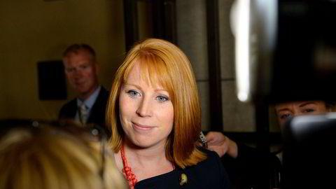 Svenske Centerpartiets leder Annie Lööf kan bli en joker i søndagens valg.
