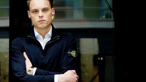 Laksemilliardæren Gustav Magnar Witzøe (24) hadde en skattelignet formue på over 11,1 milliarder kroner i 2016 og overtar med det formuestoppen i Norge. Foto: Mikaela Berg