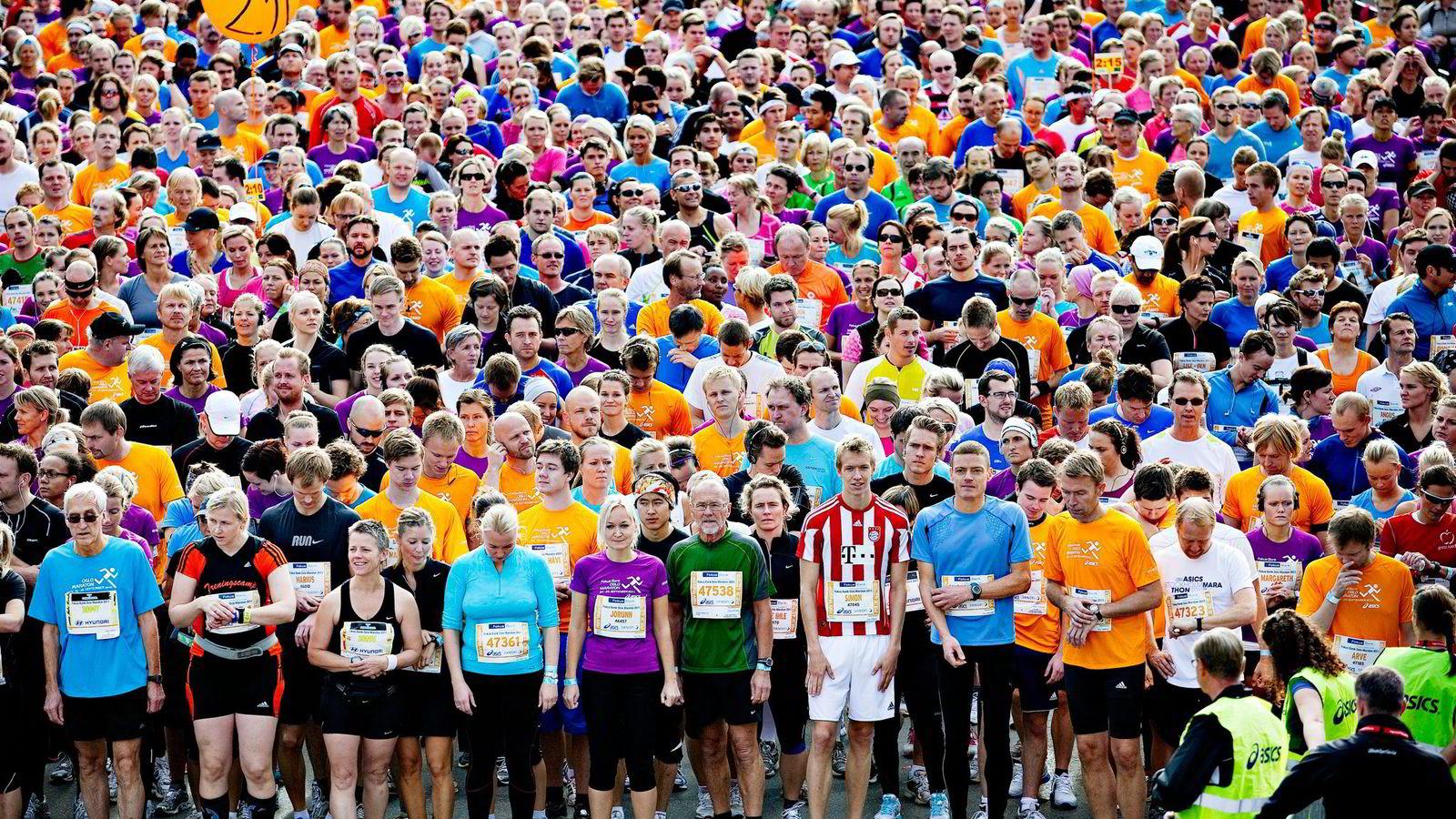 Så langt i år har Oslo Maraton 22.300 påmeldte. Her fra 2011. Foto: