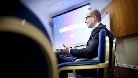 20 av 130 skal bort. Centrica Norge-sjef Dag Omre går tøffe dager i møte. Foto: