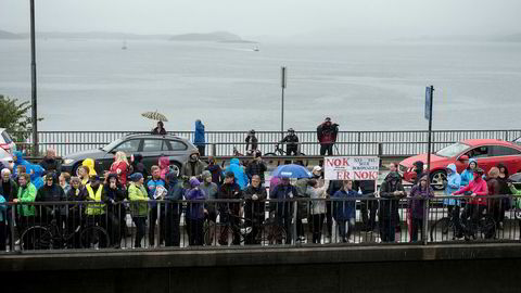 Striden om bompenger har ført til flere aksjoner i Stavanger og Sandnes, her fra aksjon mot bomringen på bybroen i Stavanger i august.