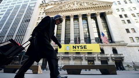 New York børsen på Wall Street har en god dag torsdag.
