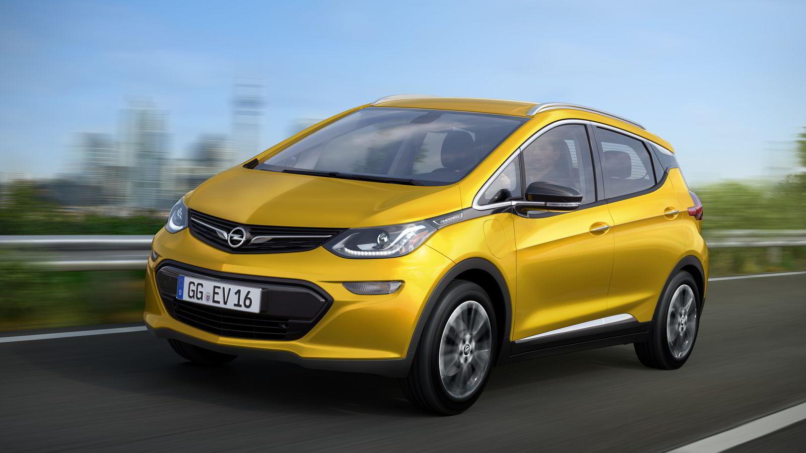 Opels nye elbil kommer til Norge i 2017.