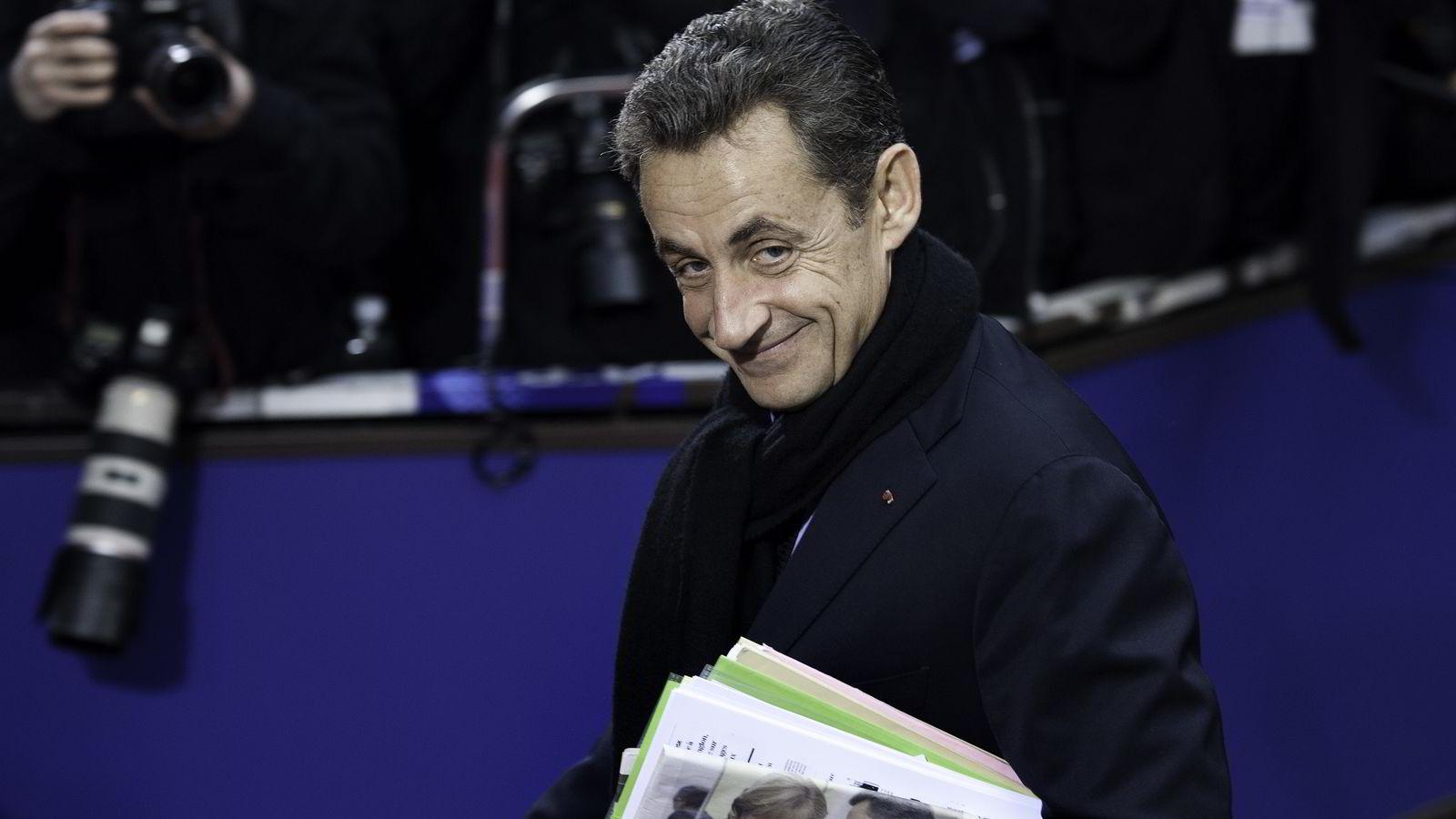 Nicolas Sarkozy vil annonsere sitt kandidatur til presidentvervet i Frankrike kommende onsdag, melder franske medier. Her er avbildet da han var president forrige gang.