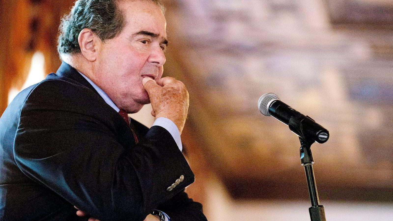 Antonin Scalia var en av de mest høyrevridde dommerne i amerikansk høyesterett, og sørget for at balansen i viktige saker tippet i konservativ retning. Foto: Darren Ornitz, Reuters/NTB Scanpix