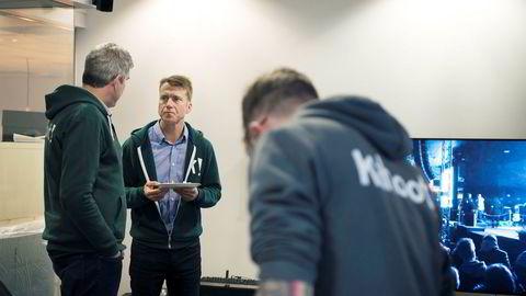 Administrerende direktør Erik Harrell i Kahoot feiret nylig 50 millioner månedlige aktive brukere med egen Kahoot, kake og kaffe. Foto: Hanna Kristin Hjardar