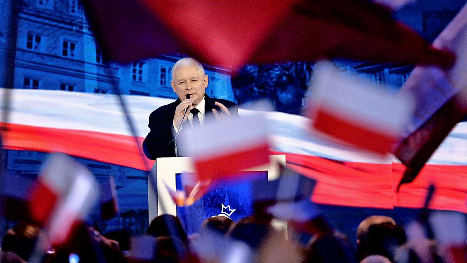 Polens Kaczynski er mot enhver fordeling av asylsøkere og flyktninger i regi av EU.