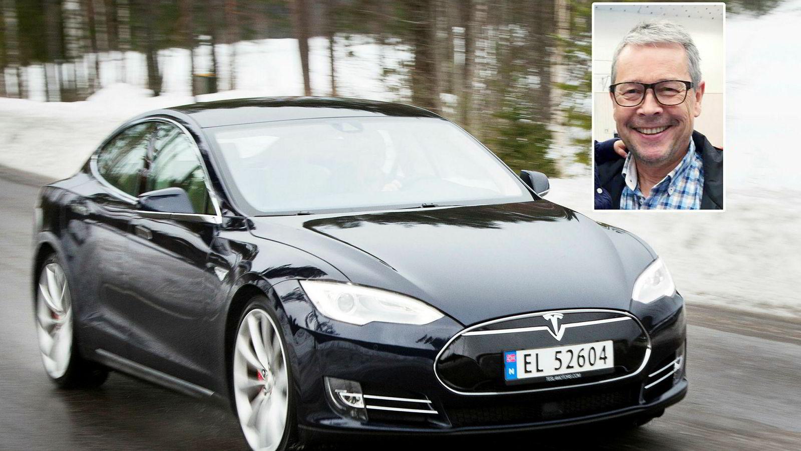 Tesla Model S er solgt i nesten 20.000 eksemplarer i Norge. Noen velger likevel å gå tilbake til fossilt drivstoff. Per Terje Lænn kjører nå en ladbar hybrid.