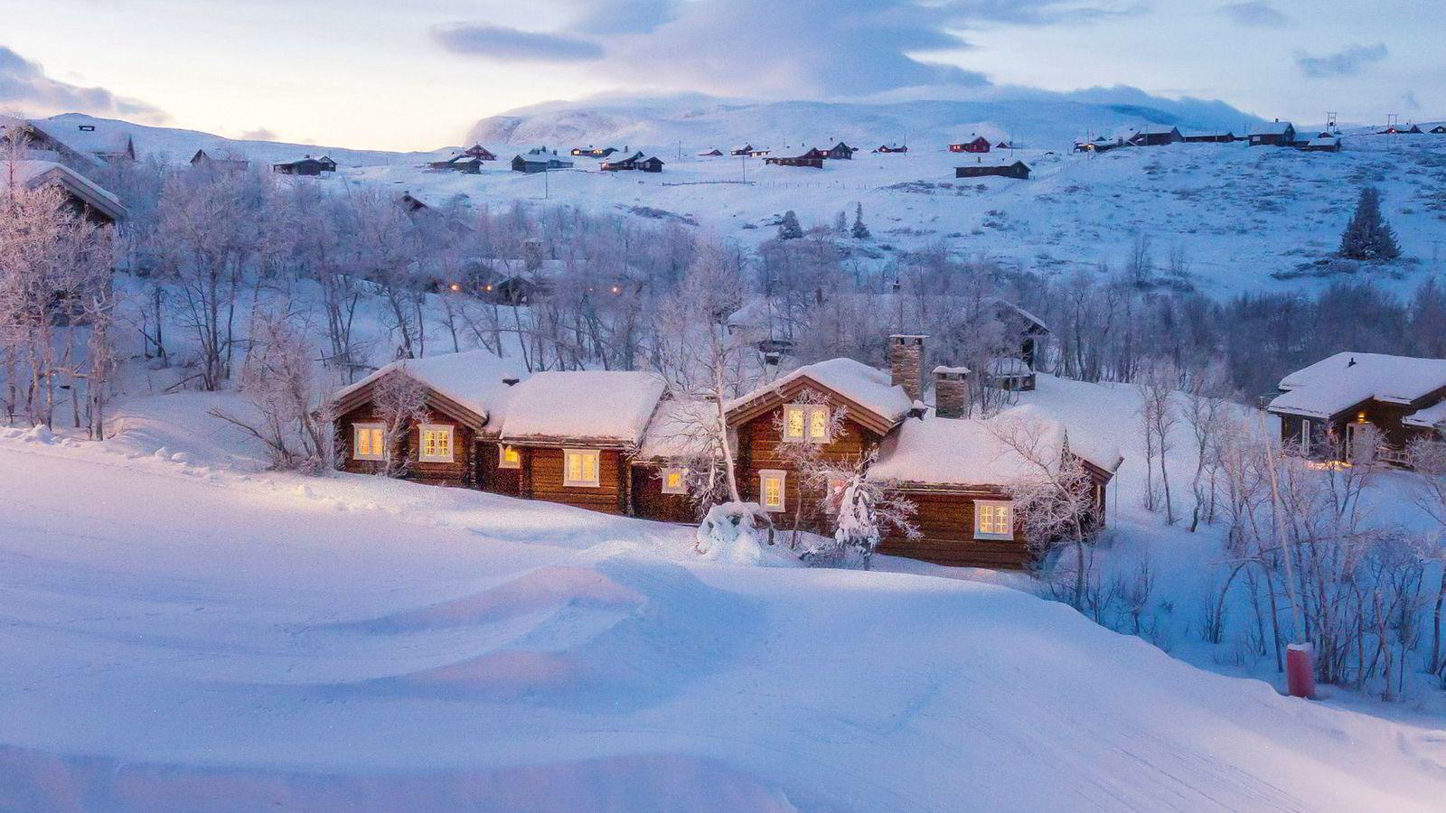 Gjennomsnittsprisen på de solgte hyttene i de i fire mest populære fjellhyttefylkene økte med 200.000 kroner i år. ifølge tallene fra DNB Eiendom. Her fra Havsdalen på Geilo