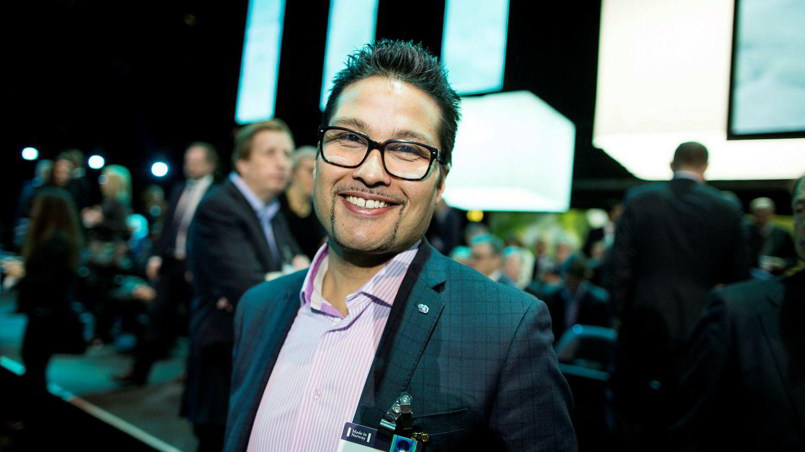 Obos-sjef Daniel Kjørberg Siraj har god grunn til å smile.