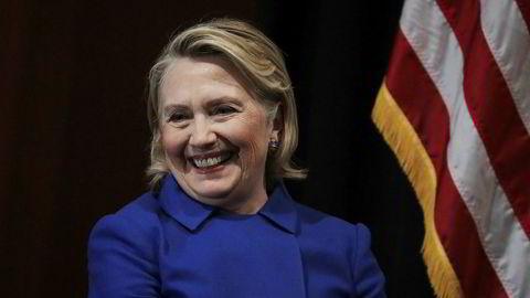 Hillary Clinton utelukker ikke å stille som presidentkandidat i USA i 2020-valget.