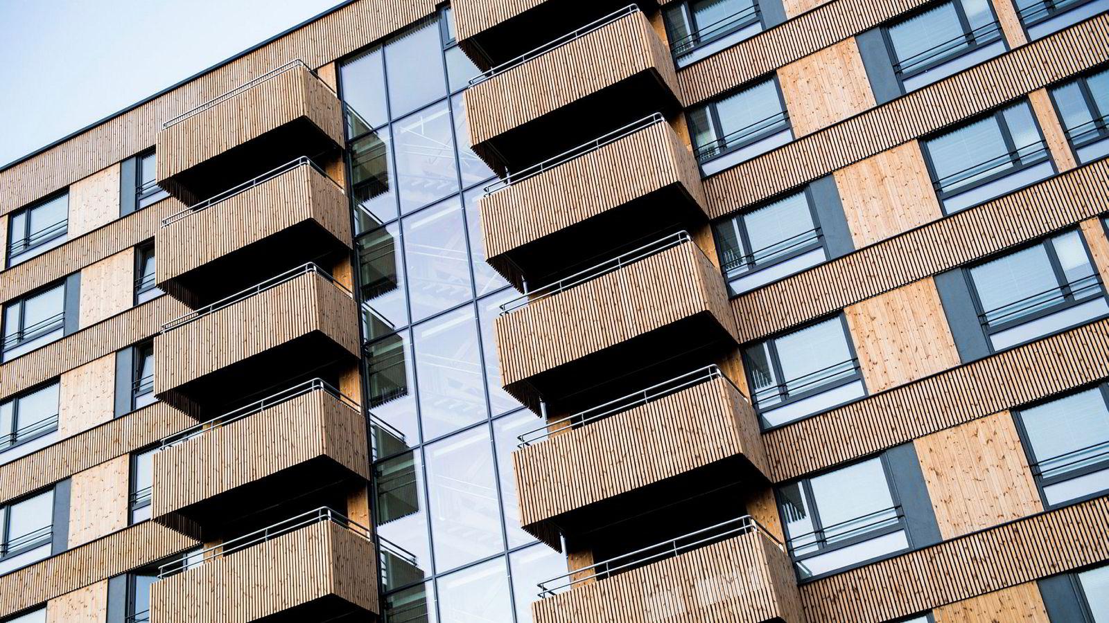 Regjeringen har satset på bygging av nye studentboliger. Her er nybygde studentboliger på Kringsjå i Oslo.