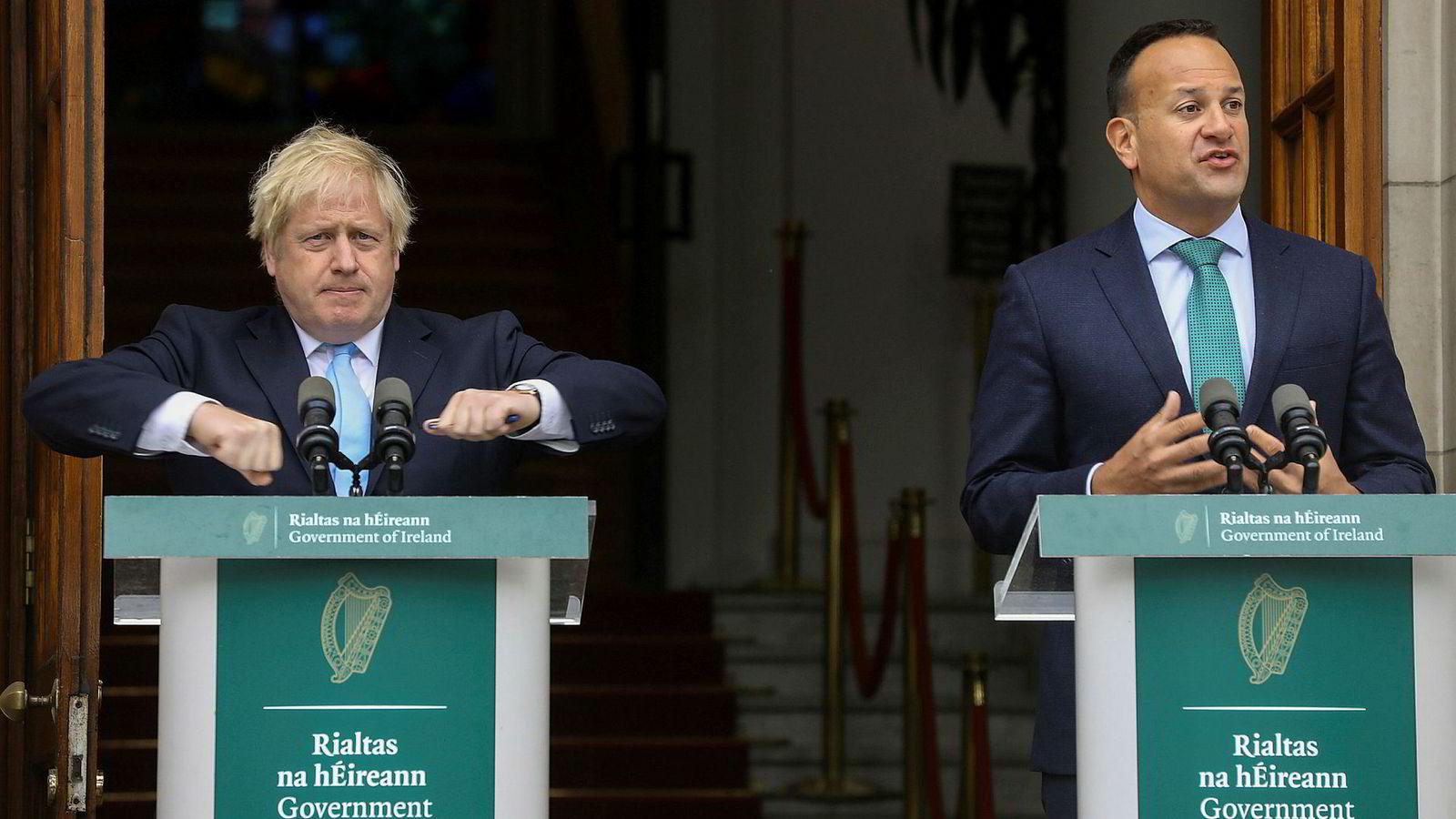 Storbritannias statsminister Boris Johnson og Irlands statsminister Leo Varadkar møttes tidligere denne måneden i Dublin.