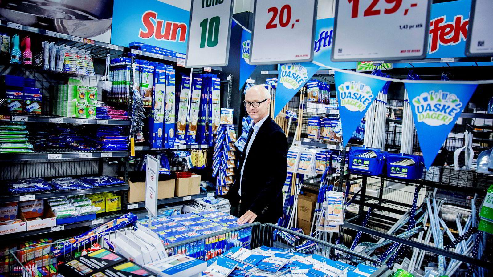 Europris-sjef Pål Wibe leverte bedre resultater enn ventet i fjerde kvartal.