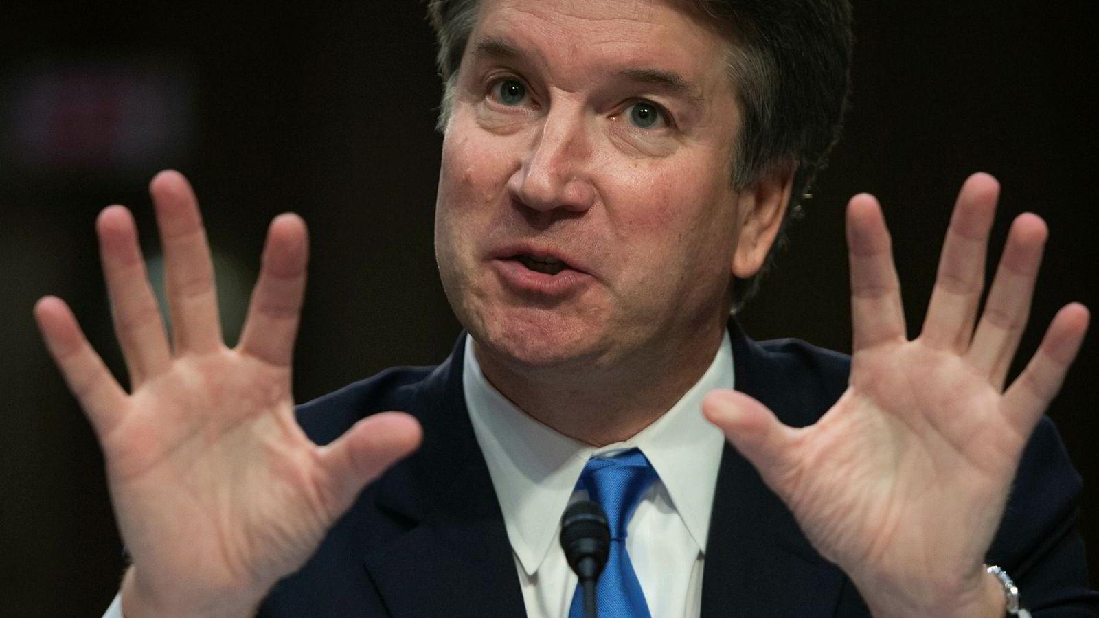 Brett Kavanaugh fotografert 5. september, under andre dag av høringen som holdes i senatet før det stemmes over om han skal bli høyesterettsdommer.