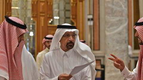 Saudi-Arabias olje- og energiminister Khalid al-Falih ankommer prestisjearrangementet Future Investment Initiative - «Davos in the Desert» - tirsdag. Budskapet var en utstrakt hånd til USA, midt under krisen med den henrettede saudiske journalisten.