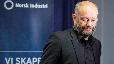 Administrerende direktør Stein Lier-Hansen i Norsk Industri er positiv til fremtiden, men frykter likevel handelskrig.