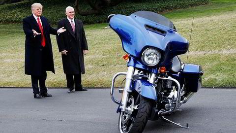 Harley-Davidson håper på drahjelp fra president Donald Trump. Så langt har ikke Trump levert.