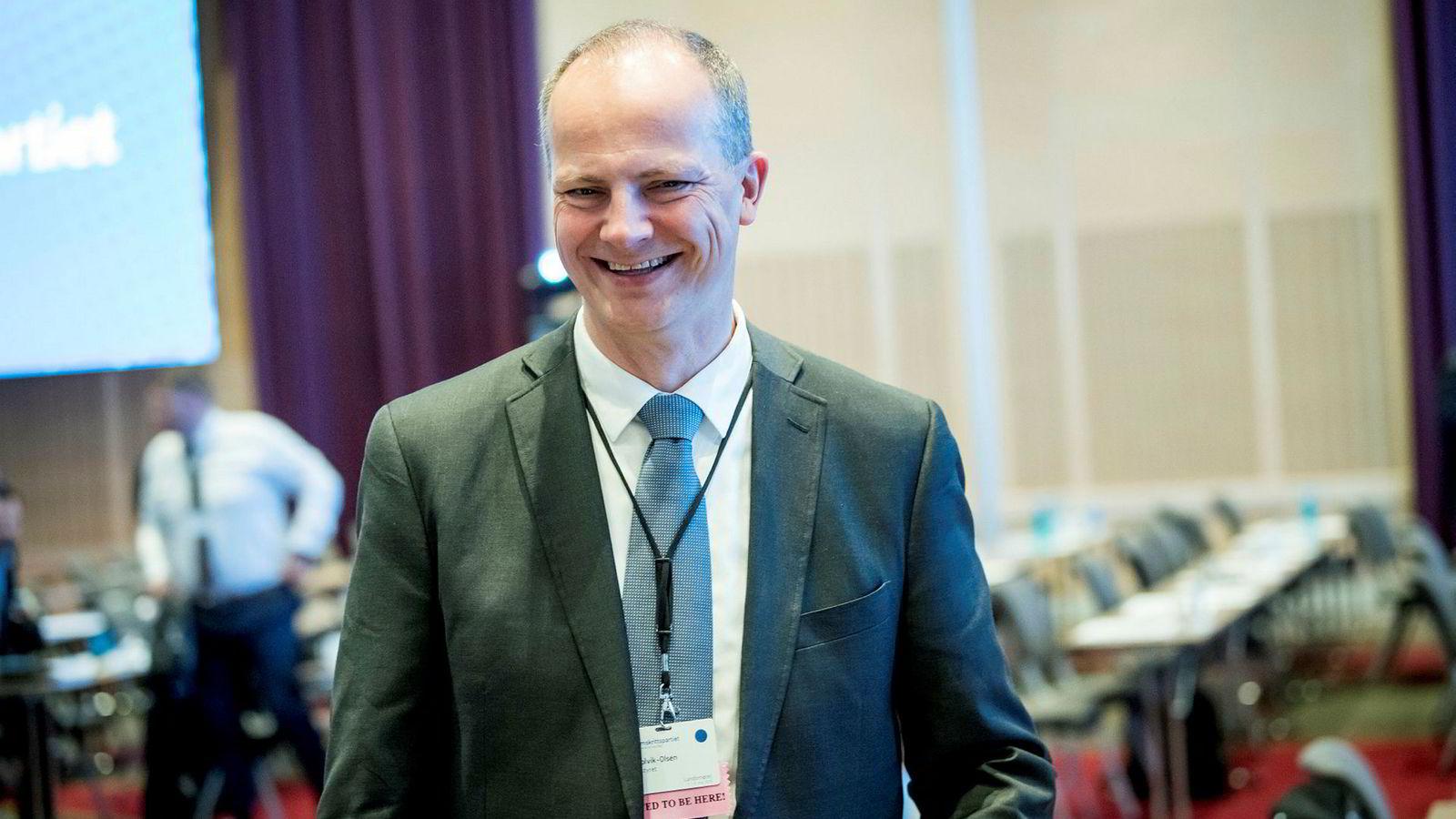 Ketil Solvik-Olsen på Fremskrittspartiets landsmøte 2019 på Gardermoen.