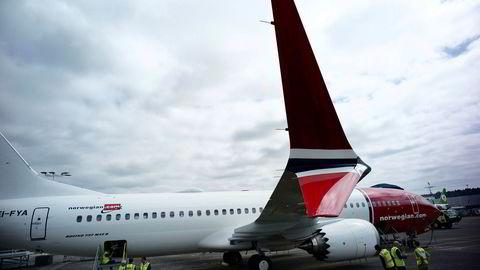 Norwegian, her representert med problemflyet Boeing 737 Max 8.