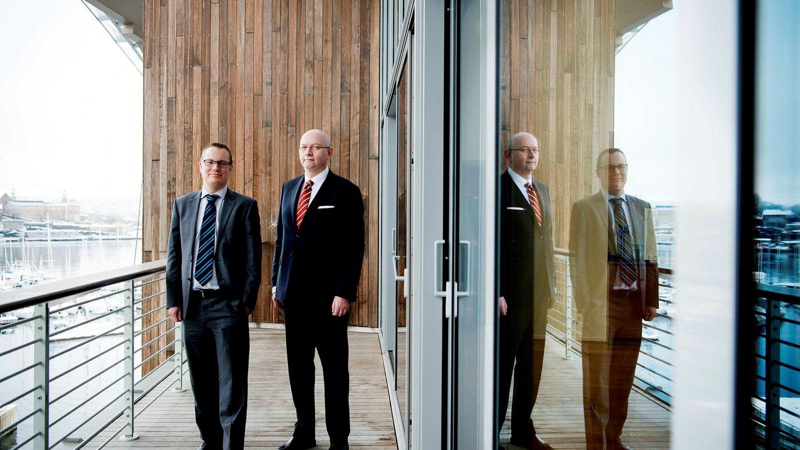 Anders Høifødt (til venstre) er partner og investeringsdirektør i Nord Kapitalforvaltning. Her sammen med Bjørn Hesthamar, managing partner i Nord Kapitalforvaltning.