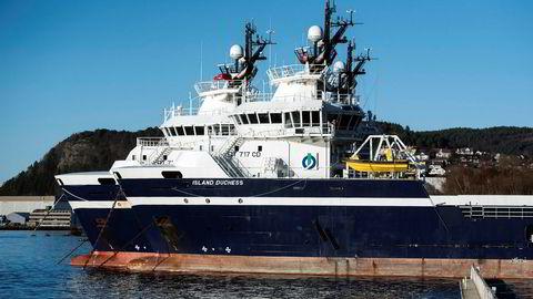 Ansatte i Island Offshore mister heller jobben enn tariffavtalene sine etter oppkjøp. På bildet supplybåter fra Island Offshore i opplag i Ulsteinvik.